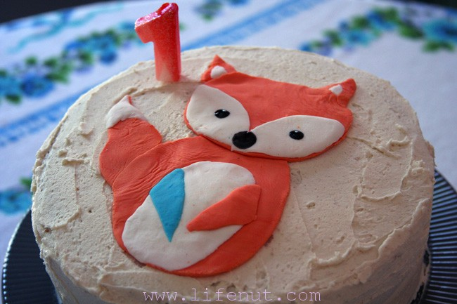 cute fox birthday cake